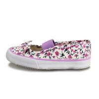 双星彩色体操鞋碎花单潮鞋布鞋平底鞋女童鞋帆布鞋