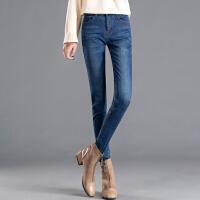 Lee Cooper春季牛仔裤女高腰韩版修身小脚显瘦铅笔裤子弹力女式牛仔长裤