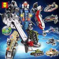 乐高积木飞机机器人男孩儿童益智拼装百变形玩具5-12岁模型大力神