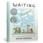 顺丰发货 等待 英文原版 Waiting 2016年凯迪克银奖 故事绘本 苏斯银奖 阿文的小毯子同作者Kevin He