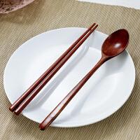 【满减】欧润哲 便携原木筷勺套装 出差旅游筷勺餐具