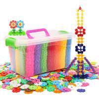 男女孩宝宝拼装拼插雪花片大号儿童积木塑料玩具1-2-3-6周岁