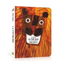 英文原版绘本 1, 2, 3 to the Zoo: A Counting Book 数字动物园纸板书 艾瑞・卡尔作品