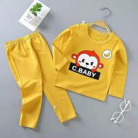 儿童秋衣秋裤 男女童纯棉中大童保暖内衣套装中小童家居服长袖长裤内衣两件套睡衣