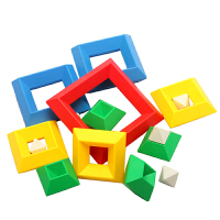 金塔宝宝白宫菱形积木塑料魔塔金字塔益智玩具2-3-6周岁
