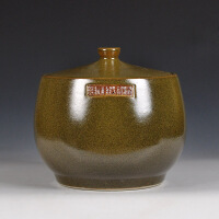 茶盒普洱茶罐密封陶罐摆件装饰储物罐醒茶罐