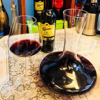 欧式红酒杯套装家用葡萄酒杯6只装高脚杯无铅玻璃醒酒器