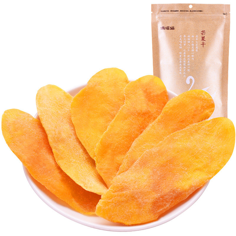 【年味狂欢 爆品直降】嘀嗒猫 芒果干100g×2包 休闲蜜饯水果脯特产芒果干 休闲零食