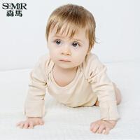 森马婴童睡衣长袖连体衣宝宝新生儿哈衣纯棉爬爬服 2件装