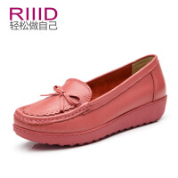 RIIID蝴蝶结单鞋 休闲舒适平底女鞋 防水台厚底
