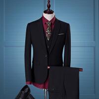 西装男套装三件套修身商务职业正装男土大码上班工作西服结婚礼服