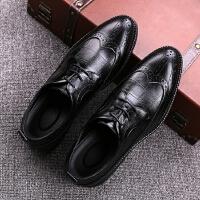 DAZED CONFUSED 潮牌布洛克雕花男鞋英伦尖头商务休闲鞋韩版正装结婚皮鞋新郎青年