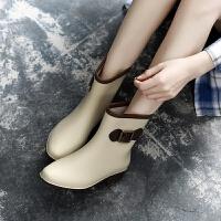 时尚韩版雨鞋女雨靴女士马丁胶鞋中筒水靴防水鞋短筒防滑套鞋