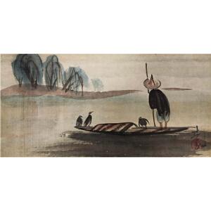 林风眠《渔夫7001》著名画家