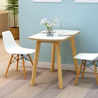 亿家达实木餐桌北欧饭桌家用吃饭桌子现代简约小户型餐桌长方形烤漆餐桌