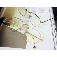 金属细边方框复古平光眼镜男 女原宿镜架可配