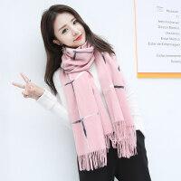 韩版秋冬季新款长款仿羊绒围巾女士披肩保暖百搭围脖冬天毛线学生