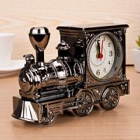 儿童闹钟 欧式怀旧复古火车头闹钟 时尚个性塑胶模型闹钟 创意家居 随机混发