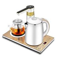 全自动上水电热水壶双层防烫家用烧水壶泡茶保温茶具套装