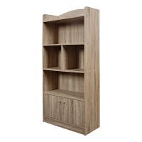 [当当自营]慧乐家 书柜书架 五层双门柜 带门储物收纳柜 法国香樟木色 11331