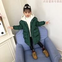 2018新款女童棉衣冬季羽绒棉外套中长款加厚保暖休闲女孩棉袄