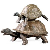 海陆动物海龟象龟金钱龟鳄龟模型儿童实心仿真野生动物玩具模型