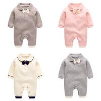 宝宝衣服女0-1岁婴儿春装睡衣初生爬服外出哈衣2新生儿连体衣春秋