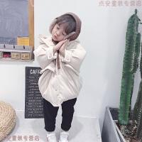女童羽绒服中长款2018新款韩版洋气宝宝冬装儿童加厚连帽保暖外套