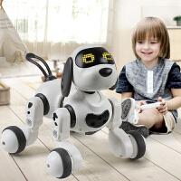 电动遥控机器狗说话走路会唱歌 智能感应儿童玩具