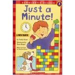 【中商原版】学乐分级读物2级 一分钟 英文原版 Just a Minute (Hello Math Reader) 数
