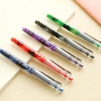 日本pilot百乐水笔P500中性笔BL-P50彩色水性笔针管笔0.5mm/0.7mm学生用考试签字笔黑蓝红墨蓝 进口
