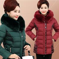 中老年人女冬装加绒加厚保暖棉衣妈妈装50-60岁冬季外套短款棉袄