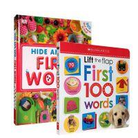 进口英文原版DK First 100 Words Hide and Seek 300 轻松英语单词汇认知入门启蒙绘本S