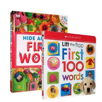 进口英文原版DK First 100 Words Hide and Seek 300 轻松英语单词汇认知入门启蒙绘本SPY亲子互动学习童书翻翻书 幼儿图解词典