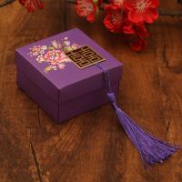 创意结婚礼喜糖盒子纸盒 中式牡丹花流苏可装烟糖果盒 婚庆喜糖盒