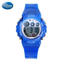 迪士尼儿童电子手表女孩防水夜光女童手表运动米奇小学生儿童手表