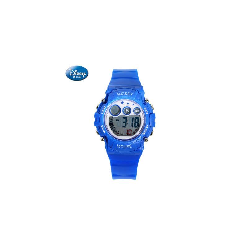 迪士尼儿童电子手表女孩防水夜光女童手表运动米奇小学生儿童手表 能游泳