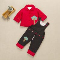 冬季婴儿手工棉衣花宝宝套装儿童外套秋冬季男女童加厚棉裤婴幼儿秋冬新款