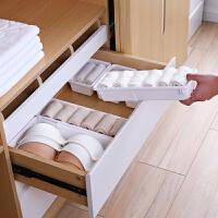 可伸缩抽屉收纳盒分隔盒塑料长方形收纳格小盒子