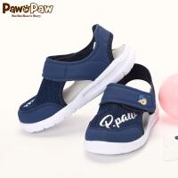 【1件3折 到手价:119】Pawinpaw卡通小熊童装秋款男童休闲凉鞋