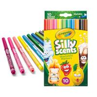 Crayola绘儿乐 58-5071 百变香味10色细杆水彩笔 当当自营