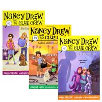 【全店300减100】英文原版Nancy Drew and the Clue Crew南茜・朱尔系列3册套装
