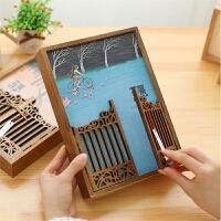 毕业纪念册芒果时光留念册复古木盒镂空创意可爱同学录女集合