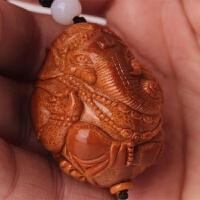 橄榄核手串男士大核超大单籽 财神手串 象神 大象单核手把件