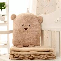 抱枕被子两用靠垫靠枕办公室午睡枕折叠小被子空调被抱枕毯子