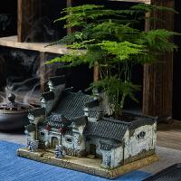 中式禅意花盆复古田园微景观多肉植物创意盆景室内盆栽个性装饰