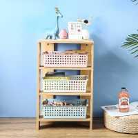 桌面收纳盒塑料收纳筐长方形盒子宿舍零食收纳篮厨房杂物置物整理