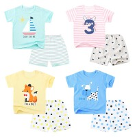 宝宝短袖套装春夏季男夏装外出服T恤女婴儿内衣小儿童运动服
