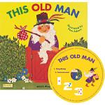 英文原版 This Old Man 这位老先生 附CD 超大开本 Child's Play儿歌洞洞书 韵文童谣