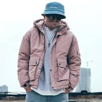 2018新款韩版潮流棉衣男士冬季外套工装短款棉袄情侣面包服
